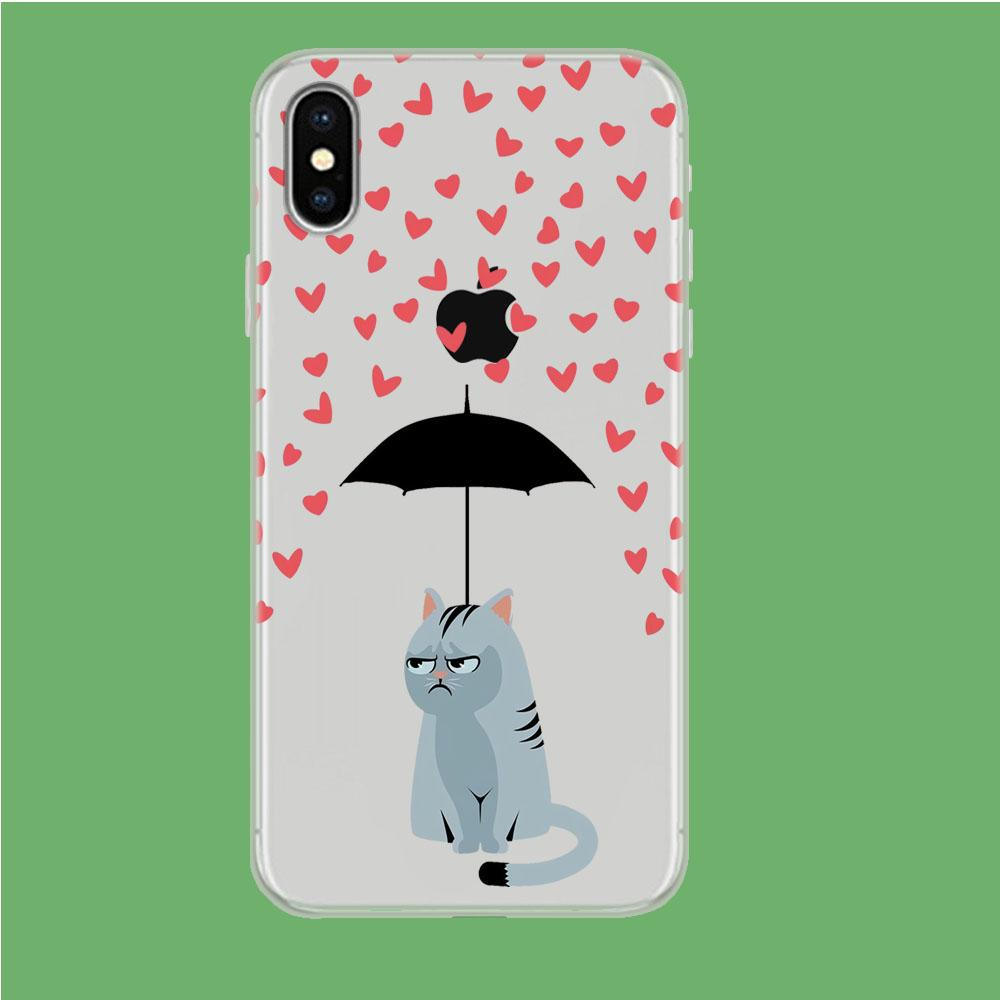 Cat in A Good Day iPhone X Clear coque custodia fundas