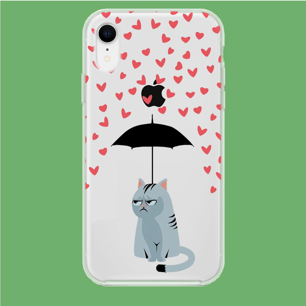 Cat in A Good Day iPhone XR Clear coque custodia fundas