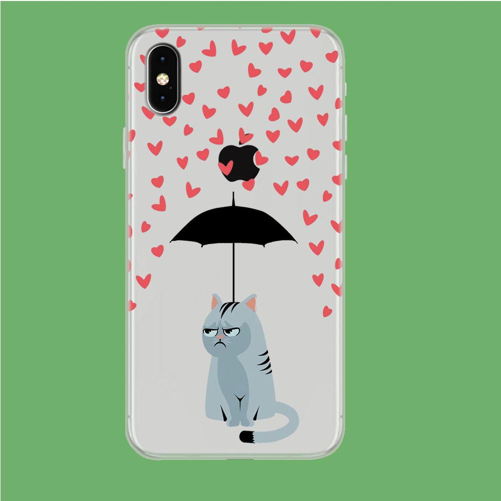Cat in A Good Day iPhone Xs Max Clear coque custodia fundas