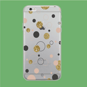 Circle Gold Polkadot coque iPhone 6 | iPhone 6s Clear