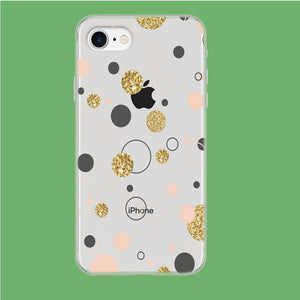 Circle Gold Polkadot coque iPhone 7 Clear