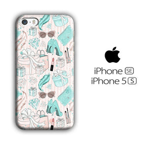 Collage Blue Theme Girl Needs iPhone 5 | 5s 3D coque custodia fundas