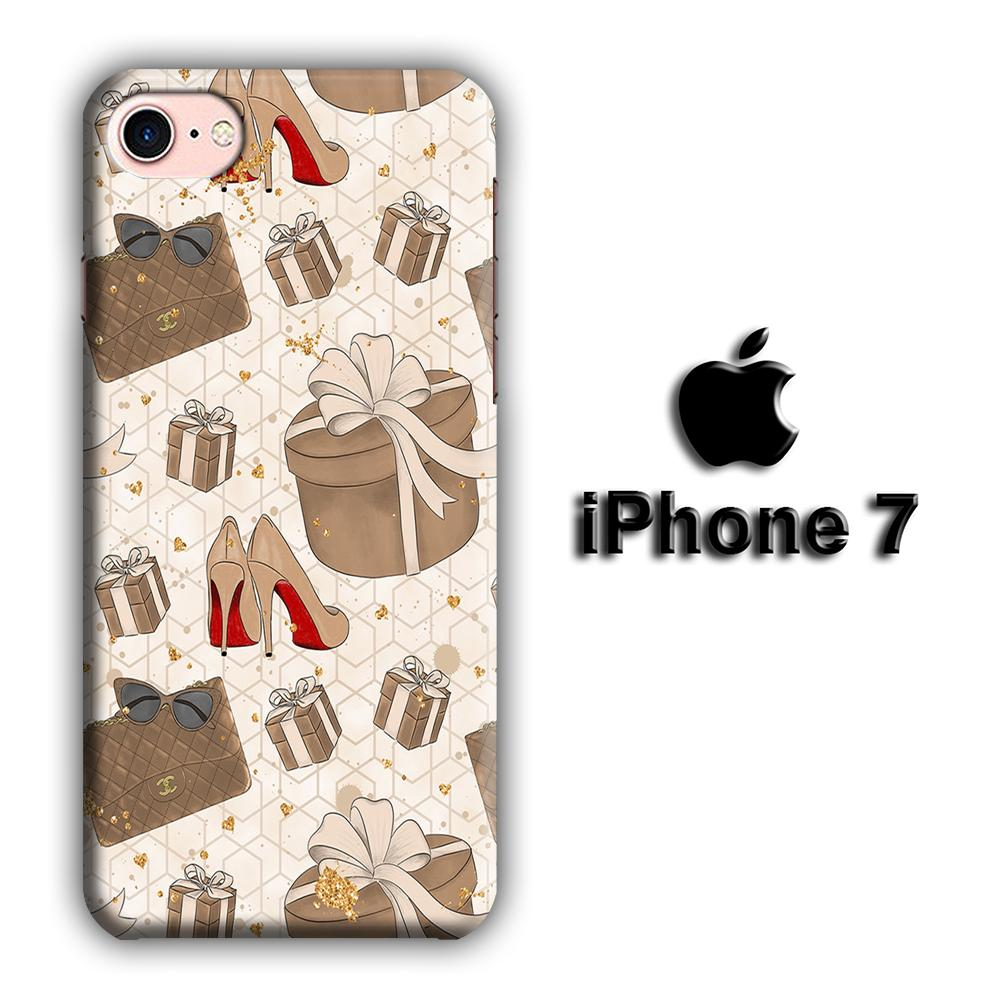 Collage Brown Collection iPhone 7 3D coque custodia fundas