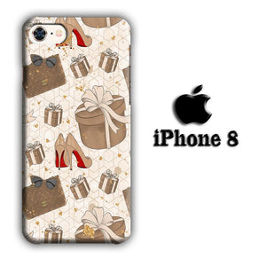 Collage Brown Collection iPhone 8 3D coque custodia fundas