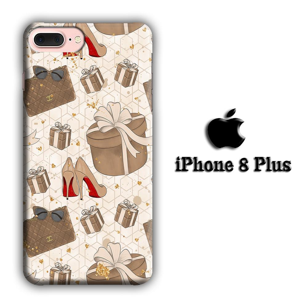 Collage Brown Collection iPhone 8 Plus 3D coque custodia fundas