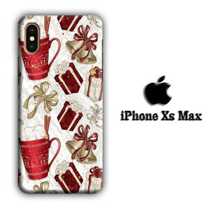 Collage Christmas Gift iPhone Xs Max 3D coque custodia fundas