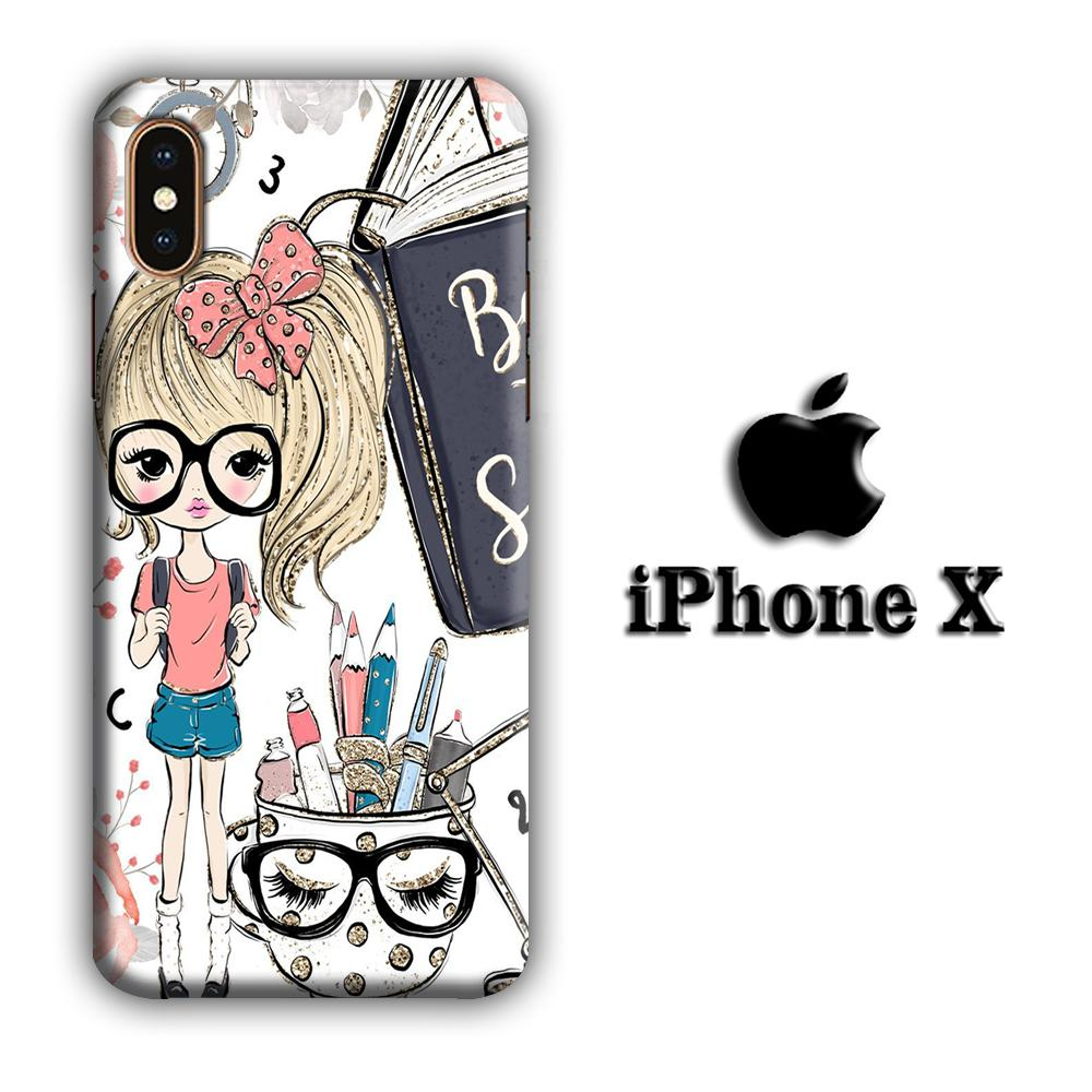 Collage Girls Back to School iPhone X 3D coque custodia fundas
