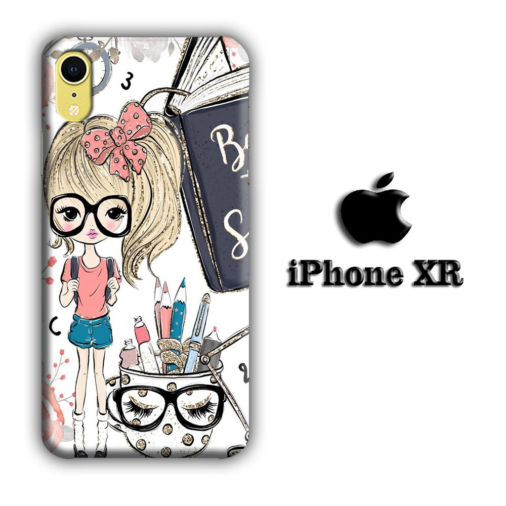 Collage Girls Back to School iPhone XR 3D coque custodia fundas