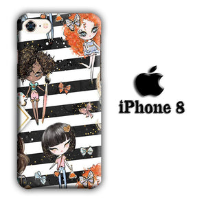 Collage Girls Vacation iPhone 8 3D coque custodia fundas