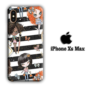 Collage Girls Vacation iPhone Xs Max 3D coque custodia fundas