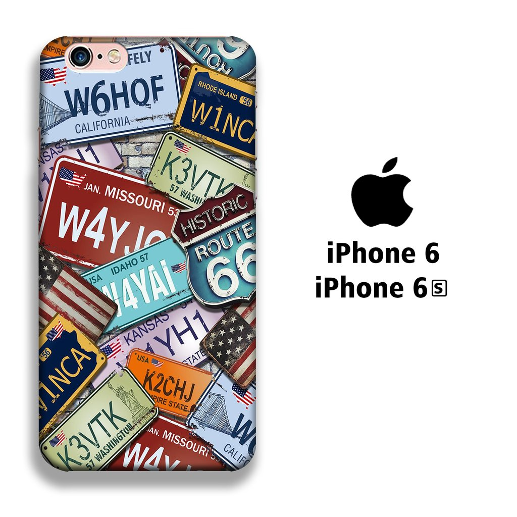 Collage Number Identity iPhone 6 | 6s 3D coque custodia fundas