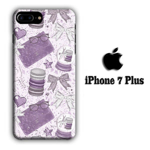 Collage Purple Collection iPhone 7 Plus 3D coque custodia fundas