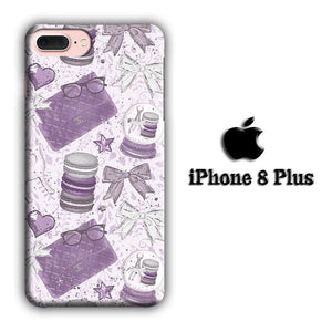 Collage Purple Collection iPhone 8 Plus 3D coque custodia fundas