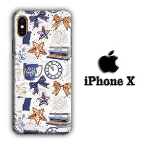 Collage Ribbon and Stars iPhone X 3D coque custodia fundas