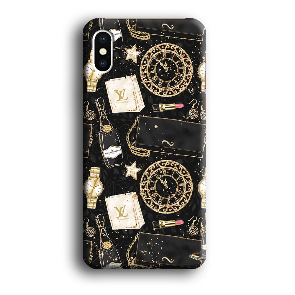 Collage Shopping and Party iPhone Xs Max 3D coque custodia fundas