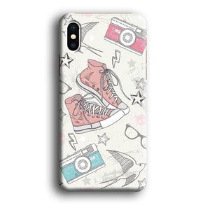 Collage to View The World iPhone X 3D coque custodia fundas