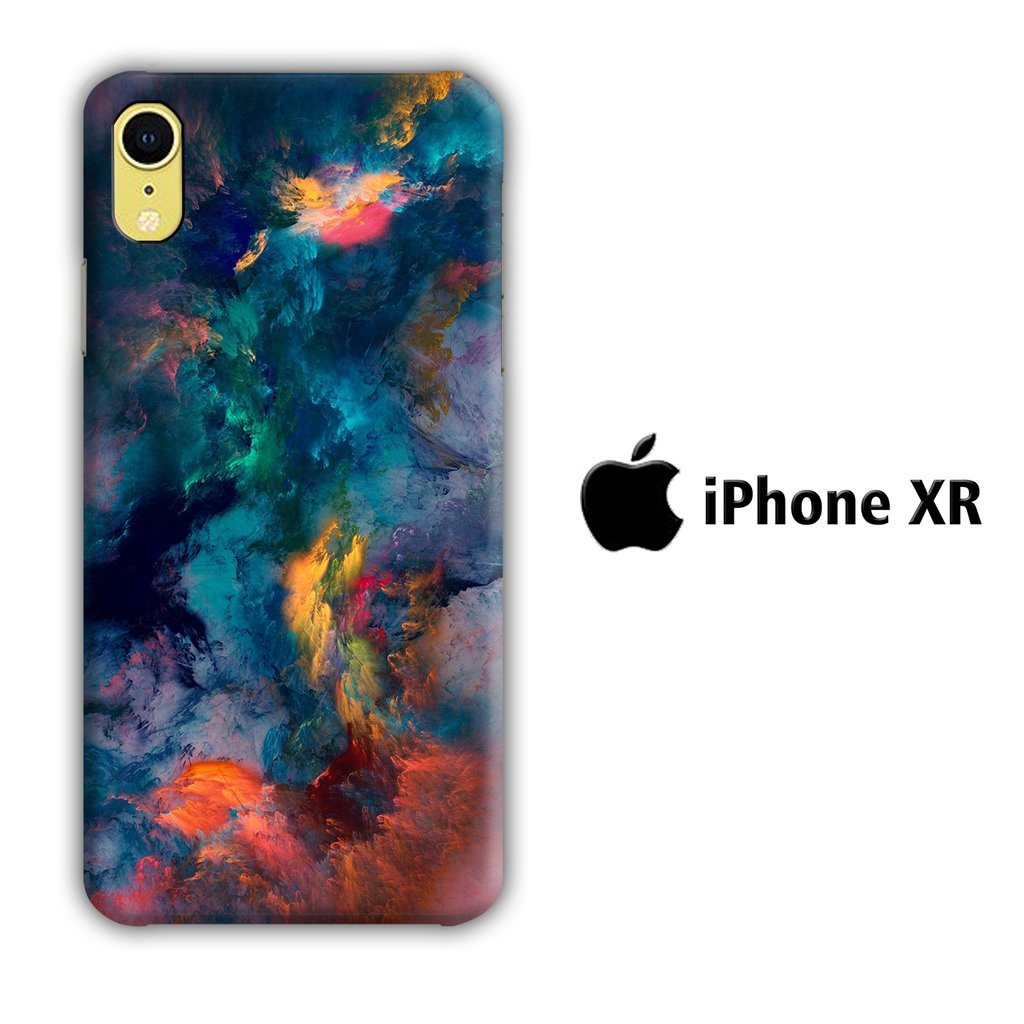 Colour Full Clouds 002 iPhone XR 3D coque custodia fundas
