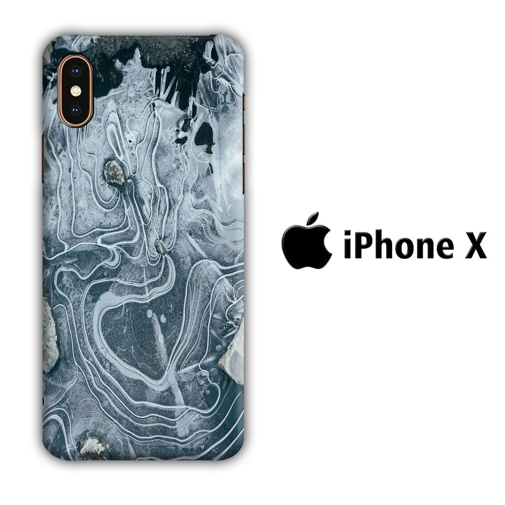 Colour Gray Flow iPhone X 3D coque custodia fundas