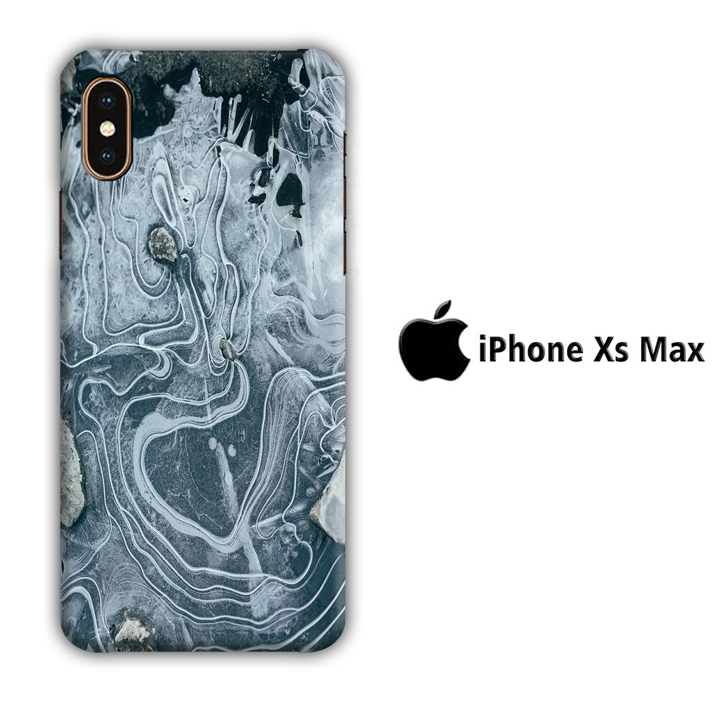 Colour Gray Flow iPhone Xs Max 3D coque custodia fundas