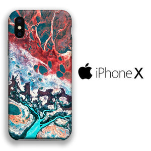 Colour Lava Delta iPhone X 3D coque custodia fundas