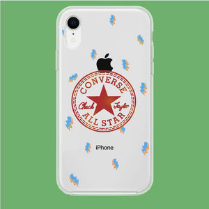 Converse Lightning Disco iPhone XR Clear coque custodia fundas