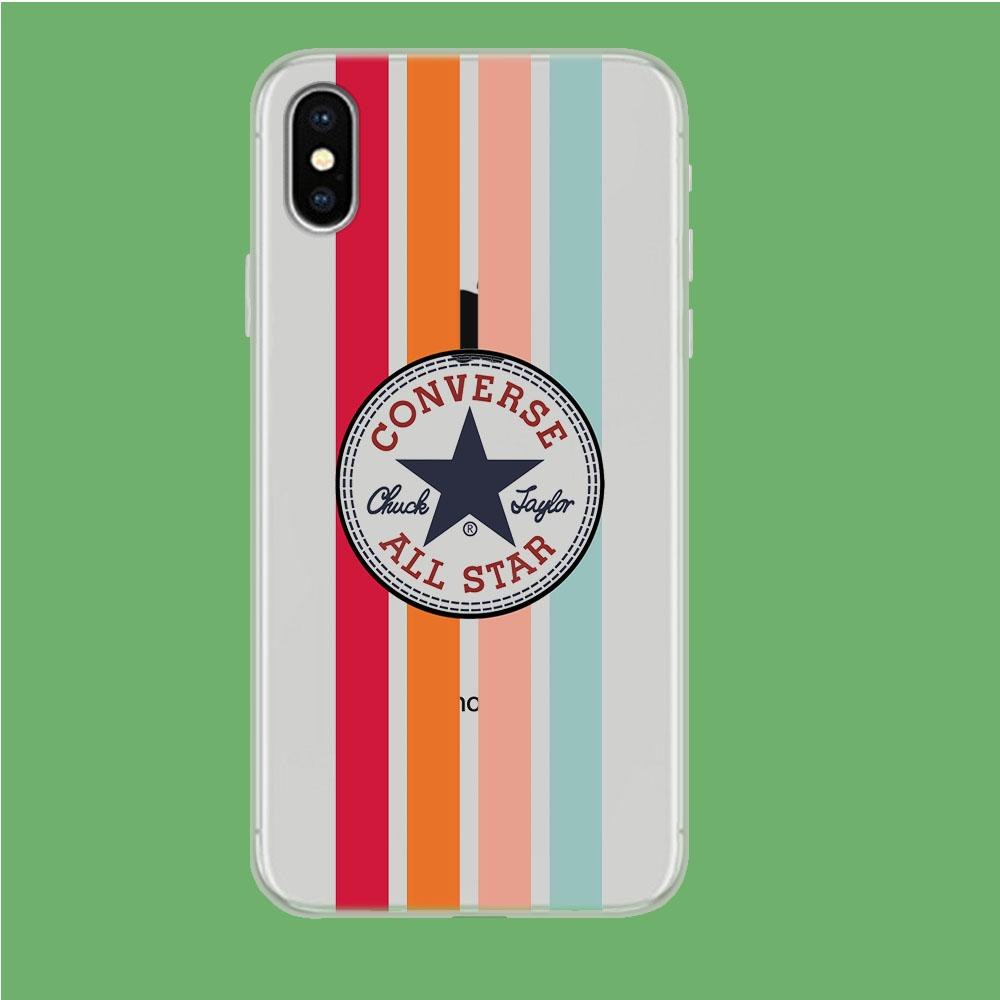 Converse Logo in Strip iPhone Xs Clear coque custodia fundas