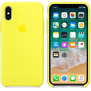 Coque iphone xr apple jaune