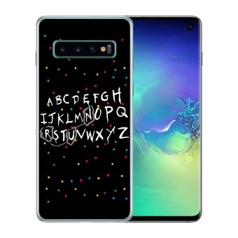Coque pour Samsung Galaxy S10 stranger things alphabet