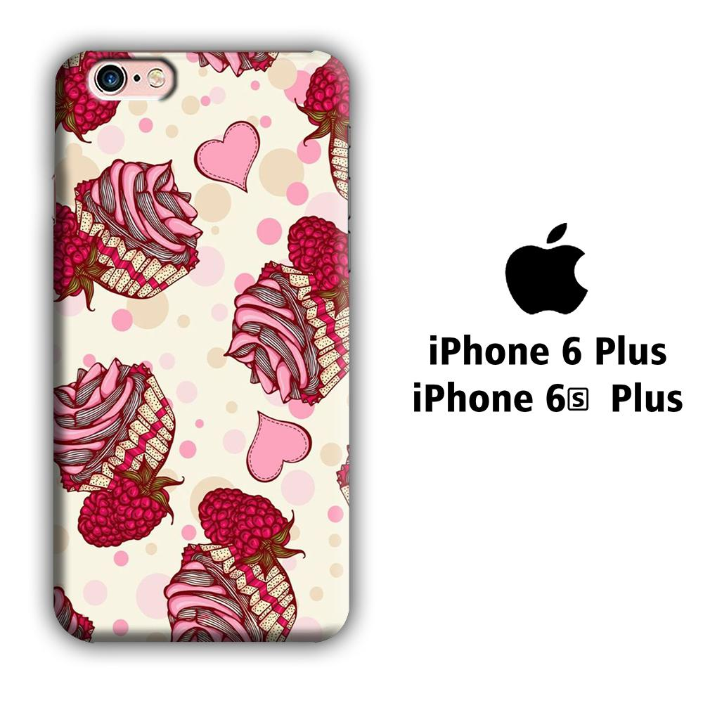 Cup Cake Red Strip iPhone 6 Plus | 6s Plus 3D coque custodia fundas
