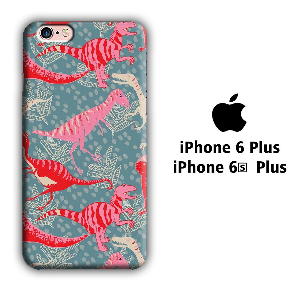Dinosaur Pattern 001 iPhone 6 Plus | 6s Plus 3D coque custodia fundas