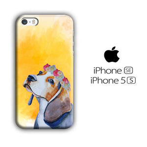 Dog Beagle Flower iPhone 5 | 5s 3D coque custodia fundas
