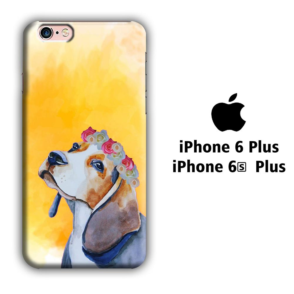 Dog Beagle Flower iPhone 6 Plus | 6s Plus 3D coque custodia fundas