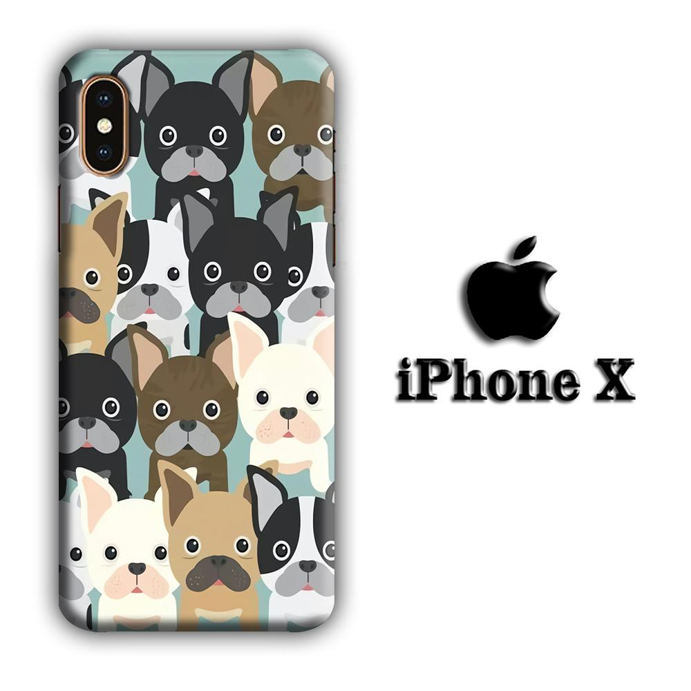 Dog Brotherhood iPhone X 3D coque custodia fundas