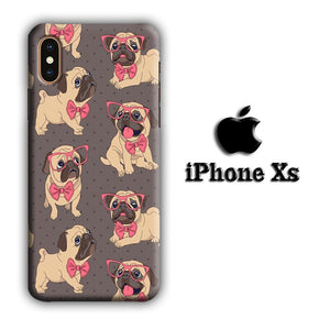 Dog Cute Pug iPhone Xs 3D coque custodia fundas