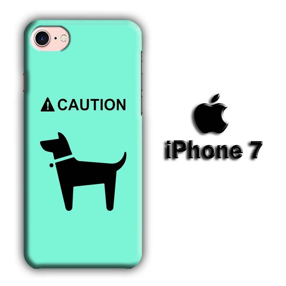 Dog Icon iPhone 7 3D coque custodia fundas