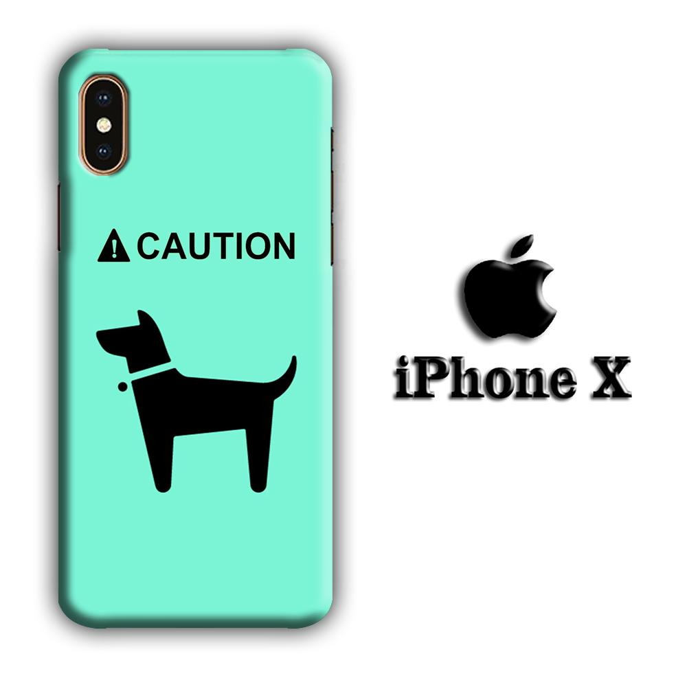 Dog Icon iPhone X 3D coque custodia fundas