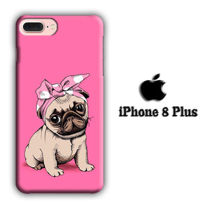 Dog Pink Pug iPhone 8 Plus 3D coque custodia fundas