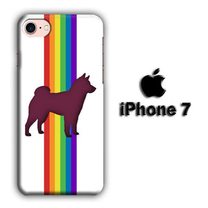 Dog Rainbow iPhone 7 3D coque custodia fundas