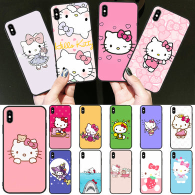 Coque Silicone Transparente Iphone 5 6 7 8 X Xr Xs 11 Pro Max SE Hello  Kitty