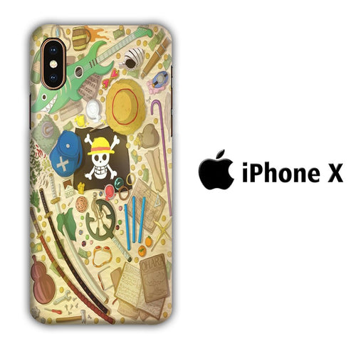 One Piece Patern iPhone X 3D coque custodia fundas