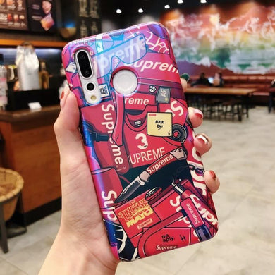 Coque HUAWEI P30 LiteSupreme Rouge Coque Compatible HUAWEI P30 Lite