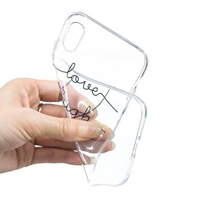 Coque iPhone XRComte de mot Souple Transparent TPU Coque Compatible iPhone  XR