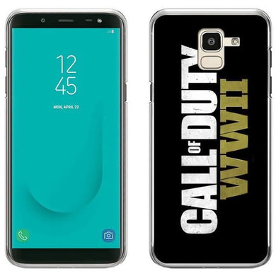 Coque pour Samsung Galaxy J6 call of duty ww2 logo