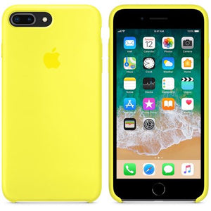coque apple jaune fluo iphone 7