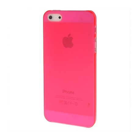 coque iphone 5 rose fluo