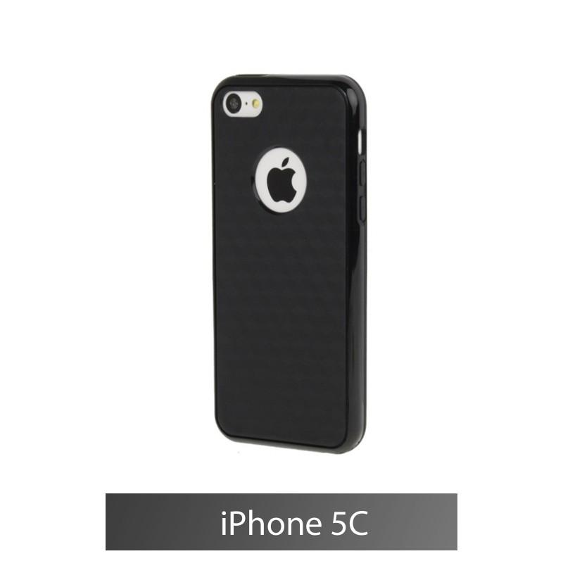 coque iphone 5c noir silicone