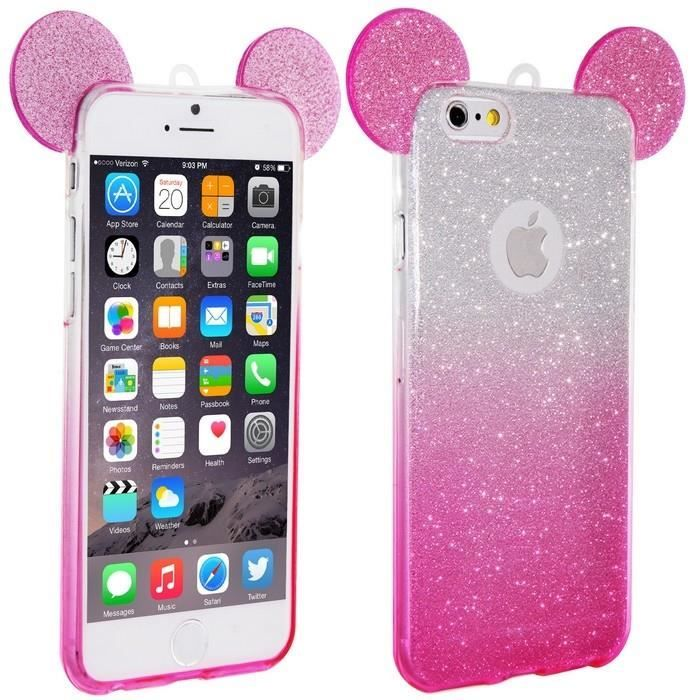 coque iphone 6s silicone mickey