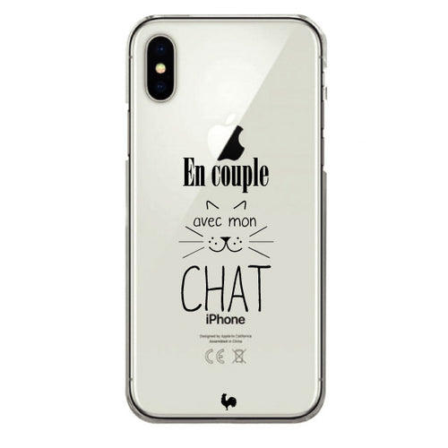 coque iphone x chat
