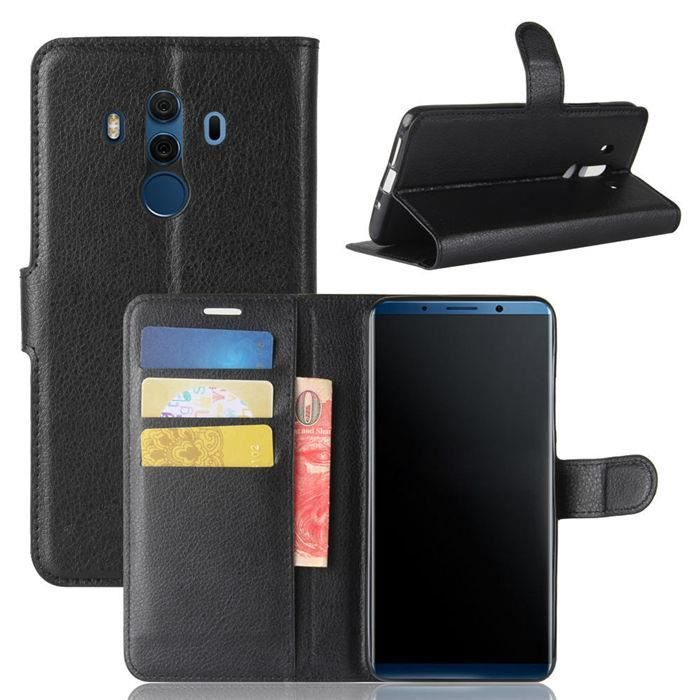 coque portefeuille huawei mate 10 pro