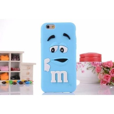 NEW COQUE BLEU M&M'S HUAWEI ASCEND P8 LITE SILICONE SOUPLE ETUI HOUSSE 3D  CHOCOLATE